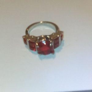 Red Garnett ring